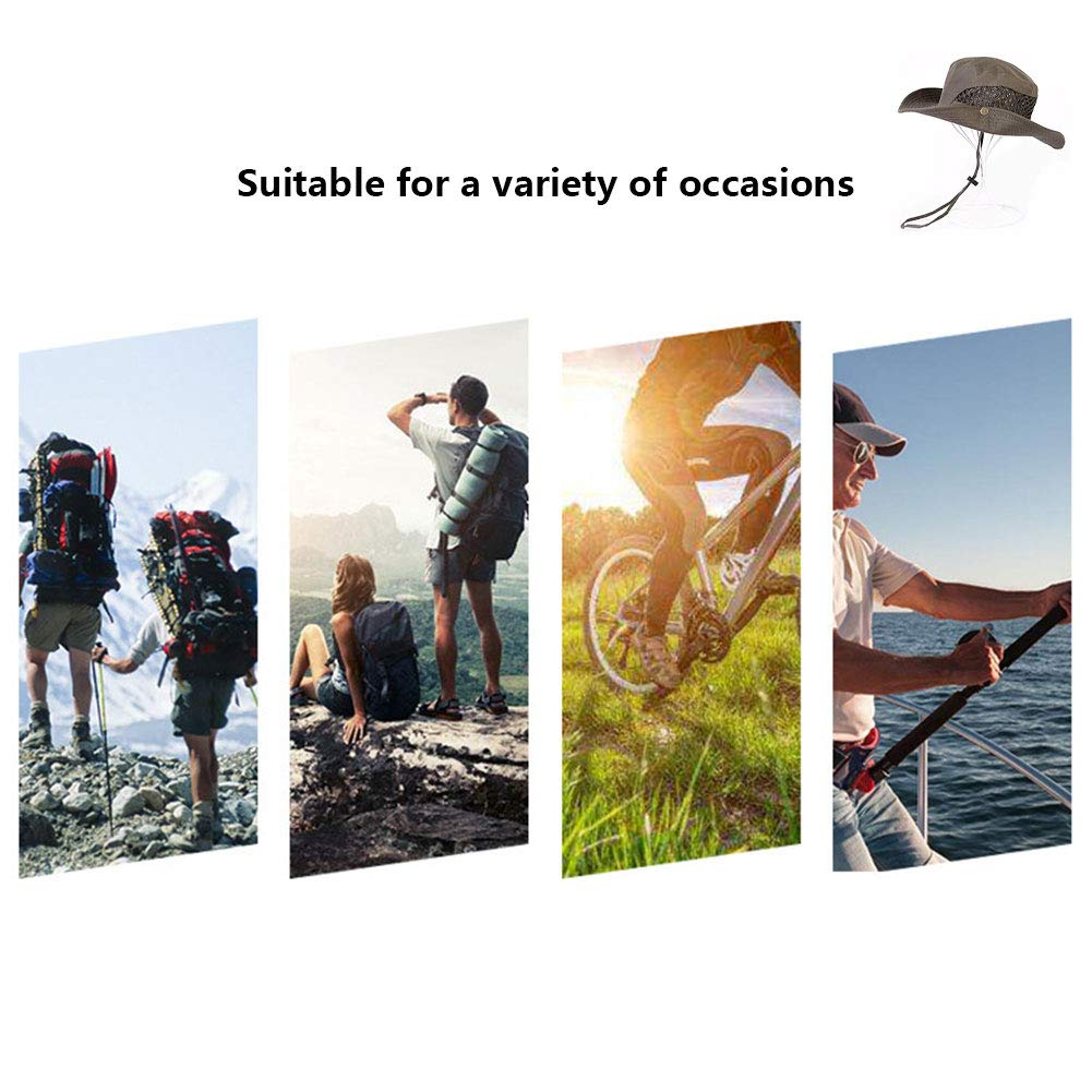 Waroomblue 2019 New Sunscreen Cooling Hat with UV Protection Mesh Wide Brim Bucket Summer Hat Heatstroke Protection Bucket Hat