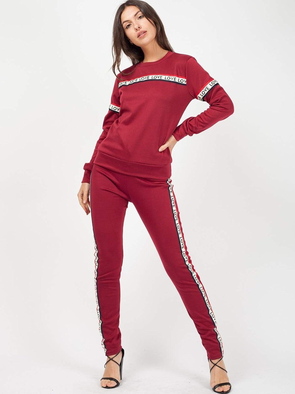 Momo&Ayat Fashions - Chándal - para Mujer Rojo Wine M/L (UK40-42 ...