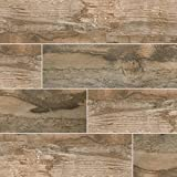 MSI Stone NSALBRO6 X 40 Salvage Wood Look Tile with Matte Finish, 6'' x 40'', Brown