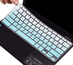 Keyboard Cover for Acer Chromebook Premium R11 11.6 CB3-132 CB3-131/Acer Spin 11 CP311/Acer Chromebook R 13 CB5-312T, Acer Chromebook 14 CB3-431 CP5-471, Acer Chromebook 15 CB3-531 Skin, Ombre Mint