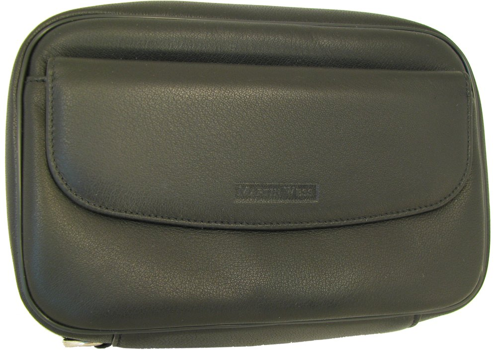 Martin Wess Germany ''Lea'' Soft Lamb Nappa Leather 8 Pipe Bag Case with Office Compartment