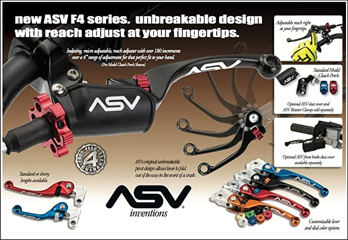 ASV Unbreakable F4 Quad ATV Clutch Lever w//Perch # CD F406SX Black