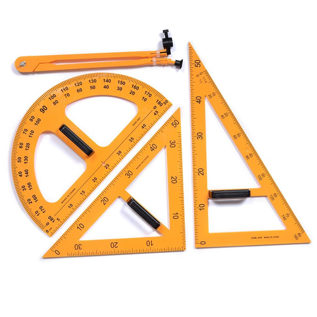 juego de regla de ense/ñanza Triangle Compasses Transportador regla de medici/ón multifunci/ón