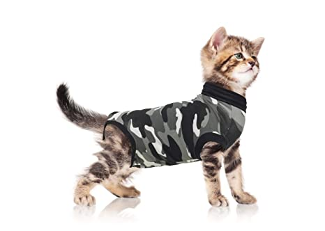 Who Knew That Cats Are Their Protectors >> Amazon Com Suitical Recovery Suit For Cats Camo Xxsmall Pet Supplies