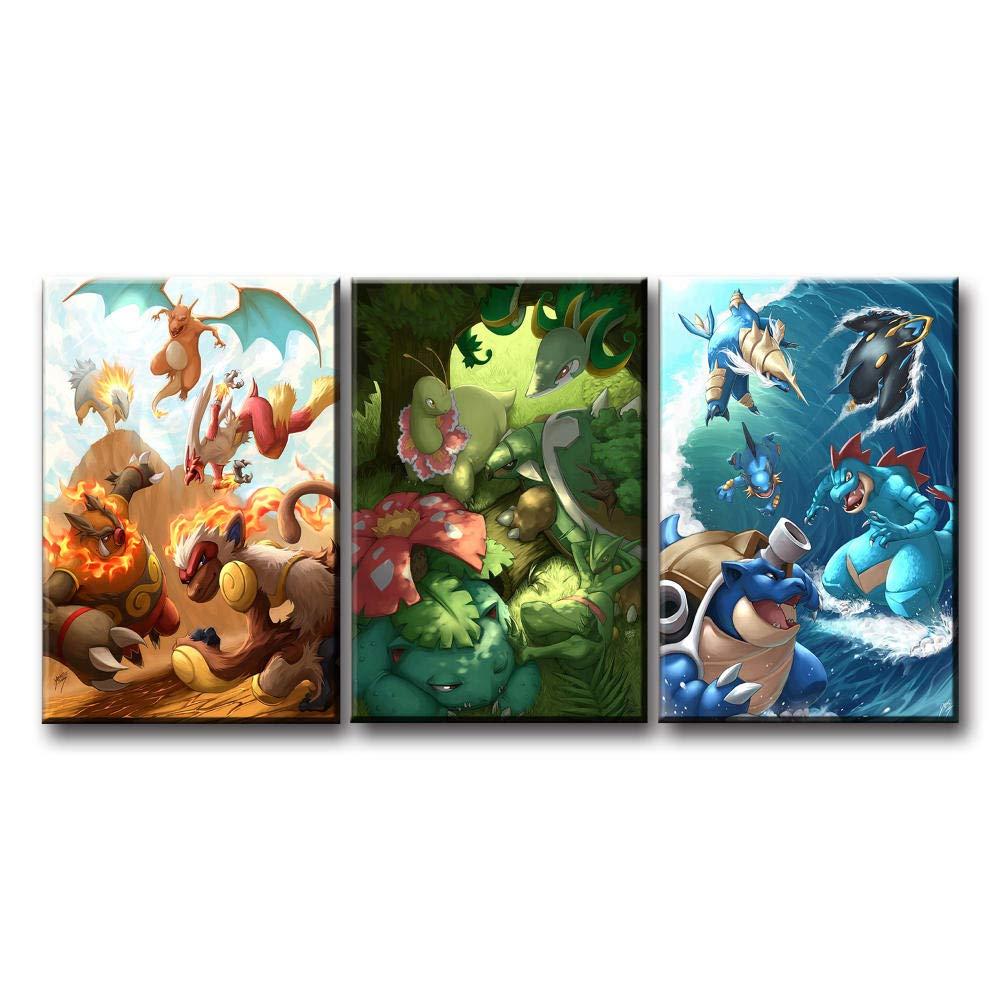 Amazon.com: LIVEXH Giclee, HD decoración de pared, 3 piezas ...