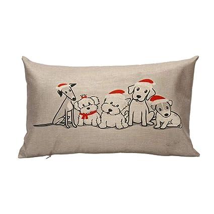 Amazon.com: gotd Navidad 12 x 20 fundas de almohada de largo ...