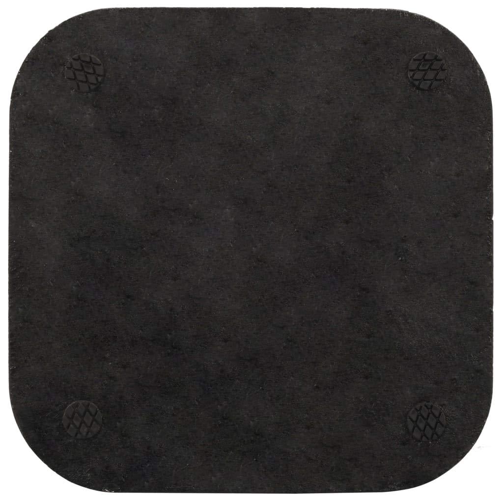 35 o 38 mm Base per Parasole in Cemento Nera Quadrata 12 kg,per Pali di Diametro Pari a 30
