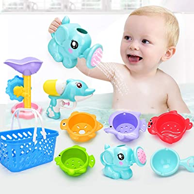 Coxeer Infants Bath Toy Set Interactive Funny Bathtub Toy Shower Toy for Toddlers: Kitchen & Dining
