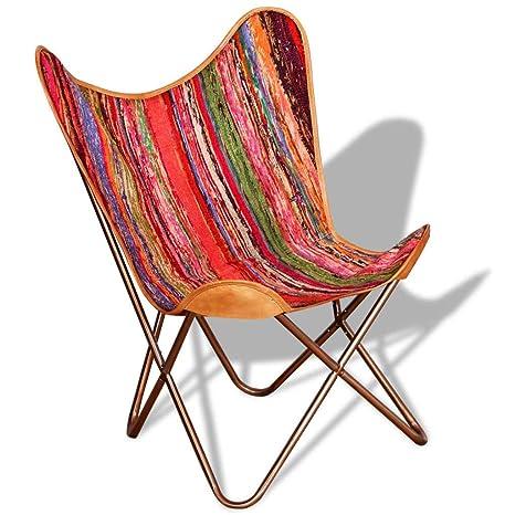 Xinglieu Silla de Mariposa de Tela chindi sillón de Relax ...