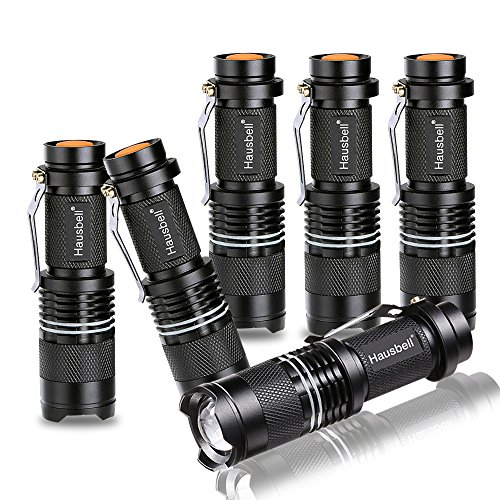 Hausbell 7W Mini LED Flashlight (6 pack)