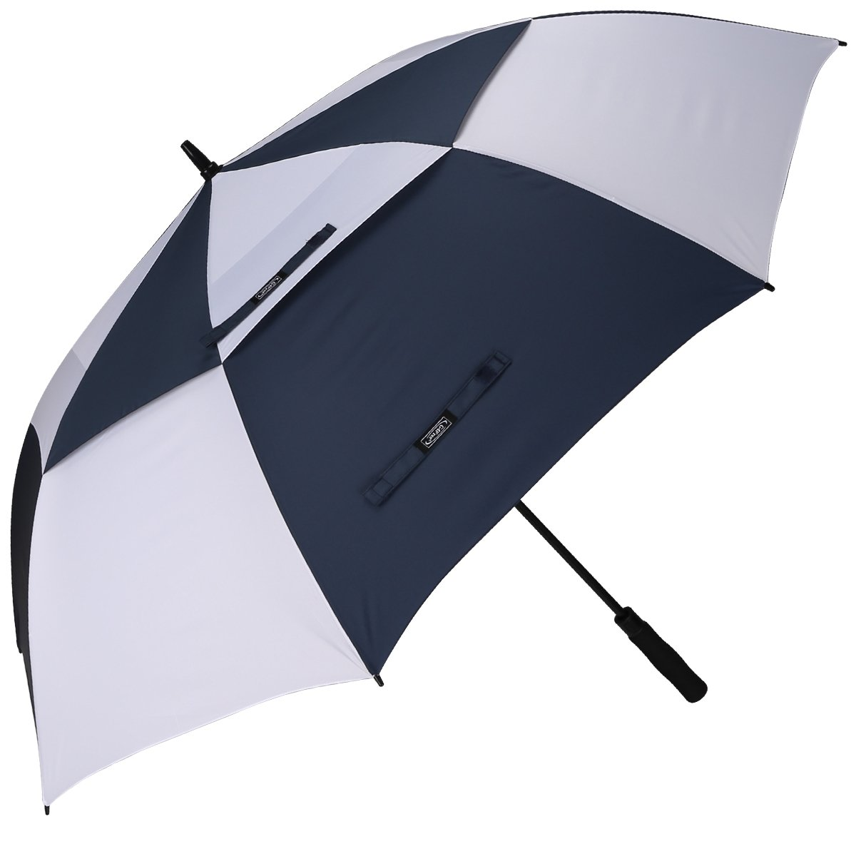 G4Free Golf Umbrella Extra Large 54 Inch Windproof Oversize Automatic Double Canopy Vented Waterproof Stick Umbrellas (Navy/White) by G4Free