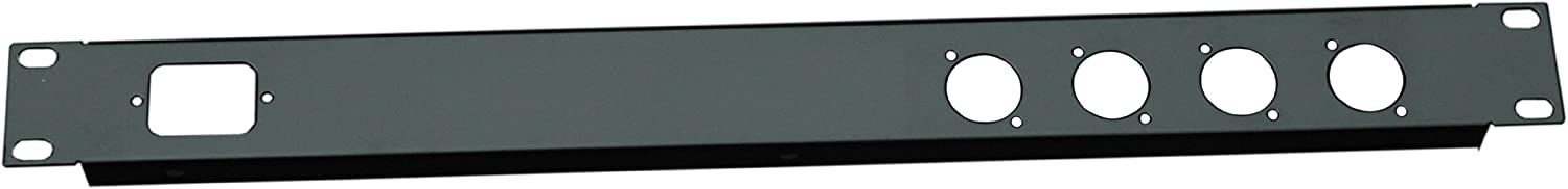 All Metal Parts 1U 19 Inch 1 C14 IEC 4 XLR Punched Hole Folded Front Panel PC
