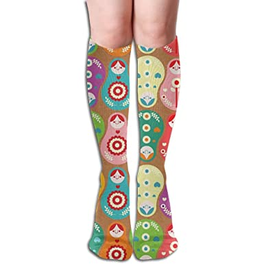 Russian Doll Compression Socks Soccer Socks High Socks Long Socks 50cm 19.7 inch