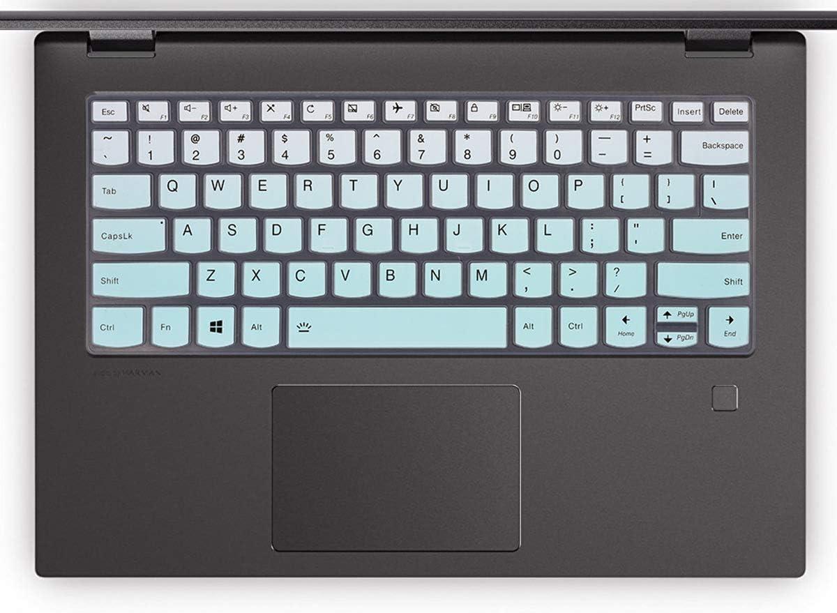 Blue+Clear for Lenovo Keyboard Cover Fit Lenovo Yoga 720 720s 730 13.3 Lenovo Flex 14,Lenovo Ideapad 720s 13 Skin Protector Lenovo Yoga 730 15.6 Lenovo Yoga C940 C740 C930 13.9