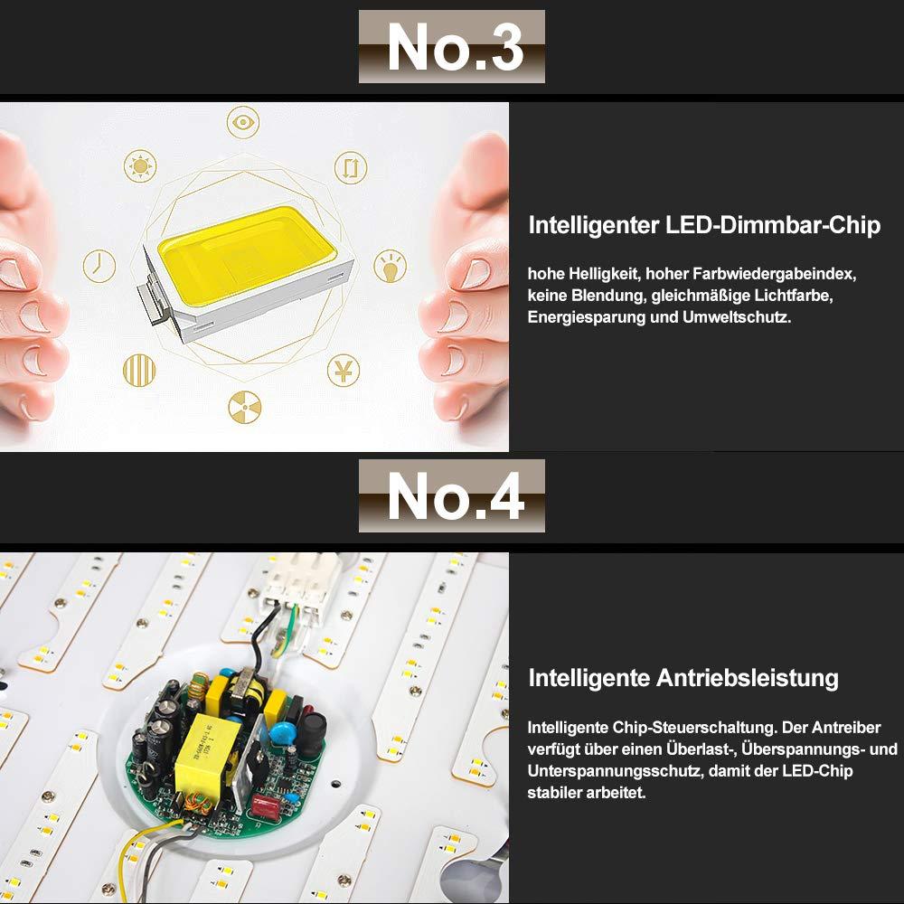 VINGO 12W LED Deckenleuchte Warmwei/ß Sternenhimmel Wohnzimmerlampe Badleuchte K/üchenleuchte Innenleuchte Wandleuchte Wohnzimmer Badezimmer Schlafzimmer Schlafzimmerleuchte Energiespar