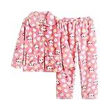 AIKEE 子供 ルームウェア 女の子 フリース パジャマ キッズ 長袖 Tシャツ+パンツ 上下セット あったか 秋冬 部屋着 ふわふわ ボア 寝巻き 100-140 大人サイズも