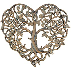 """Old River Outdoors Tree of Life/Heart Wall Plaque 12"""" Decorative Art Sculpture - I Love You Decor"""