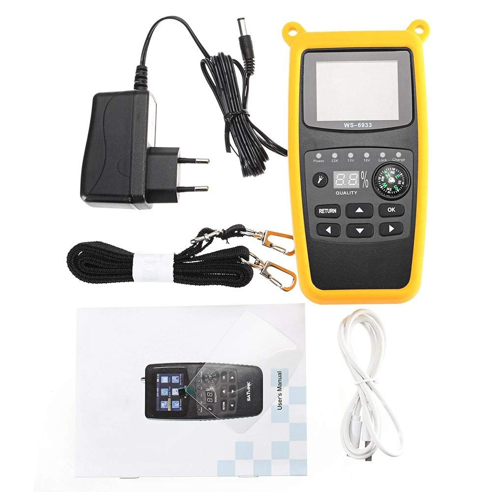 Abbey Stores - WS-6933 DVB-S2 FTA Digital Satellite Signal Finder Meter With EU Plug For Measurment Tool by Abbey Stores