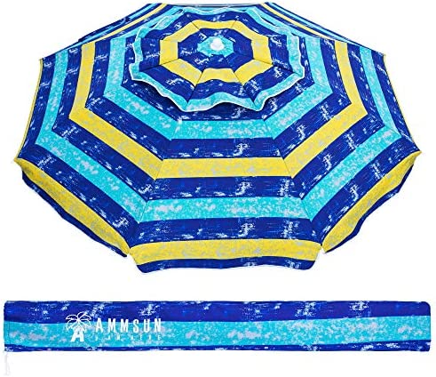 AMMSUN 6.5 Ft Outdoor Patio Beach Umbrella Sun Shelter