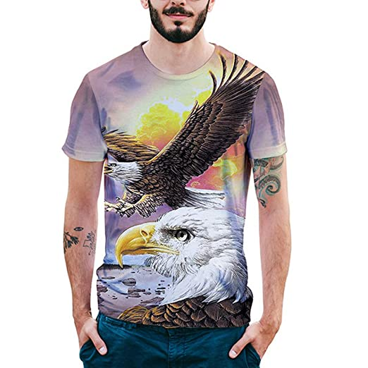 ANRIRA American Eagle - Camiseta de Manga Corta para Hombre ...