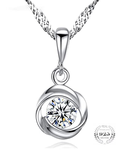 66d6cc2349 Buy Young   Forever Wardrobe 925 Sterling Silver Crystals Pendant Swarovski  Necklace For Women Girls Online at Low Prices in India