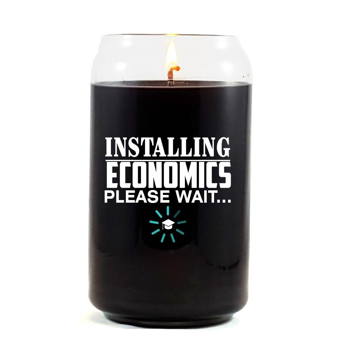Installing ECONOMICS Please Wait College Degree - Scented Candle