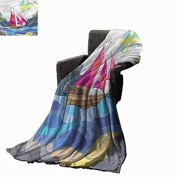 Amazon.com: Anzhudove manta cálida moderna, mantas de ...