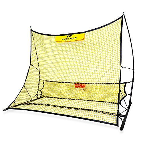 Gorilla Bag Shooting - PodiuMax Portable Soccer Trainer, 2 in 1 Soccer Rebounder Net to Improve Soccer Passing and Solo Skills, 6' x 4.7'