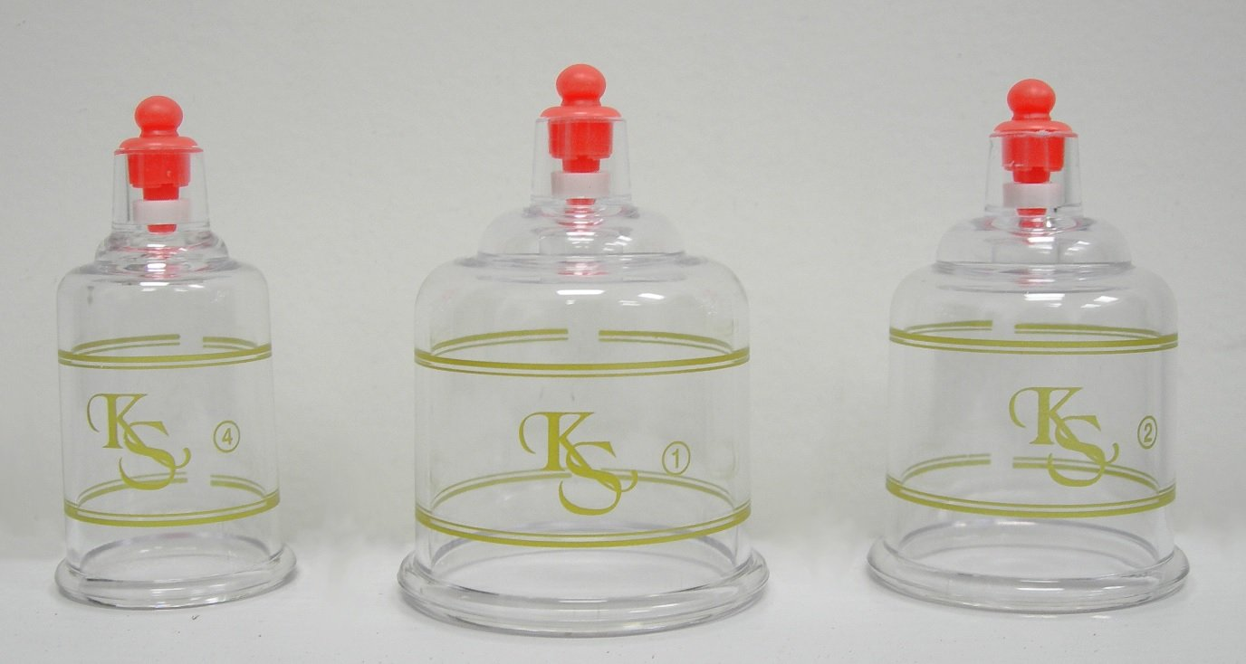 Professional Cupping Set *Made in Korea* (17 Cups) with Extension Tube($3.00 Value) KS Choi Corp by K.S. Choi Corp