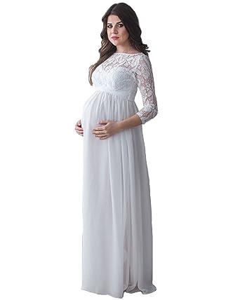 Mingxuerong Mutterschaft Hochzeitskleider Lange Armel Schwangere