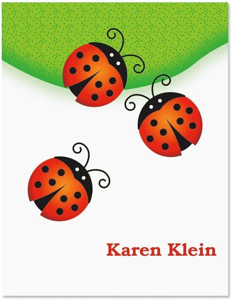 Good improvement card with envelope with ladybug