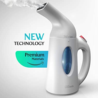 iSteam Steamer for Clothes Powerful Handheld Portable Steam Iron. 7 Tasks-in-1: Garment Ironing. Steam Cleaner. Sanitize. Refresh. Treat and More. for Home/Curtain/Travel [H106 White]