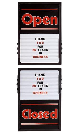 Amazon.com: Tablero vertical de carteles abiertos y cerrados ...