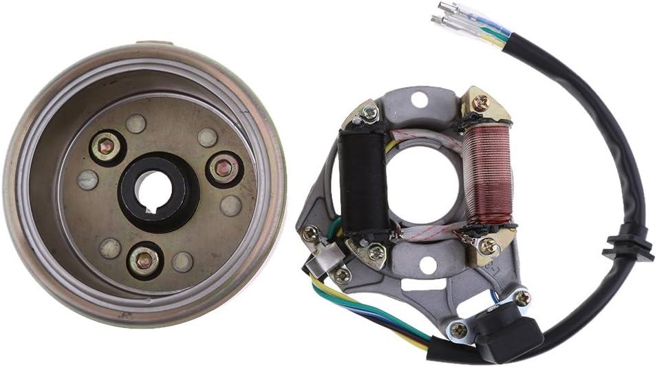 B Baosity Volant Magn/étique De Plaque De Stator De Magn/éto pour Moteur De D/émarrage /électrique De 110cc 125cc