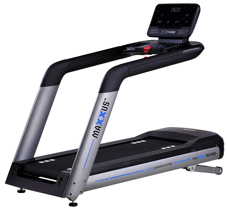 Profi Laufband MAXXUS RunMaxx 90 PRO - Treadmill Mit Blautooth APP-Steuerung – 4 PS AC Motor, 22km h - Extra Große Lauffläche (155 x 60cm) Mit Perfekter Dämpfung Für Sicheres Trainingsgefühl