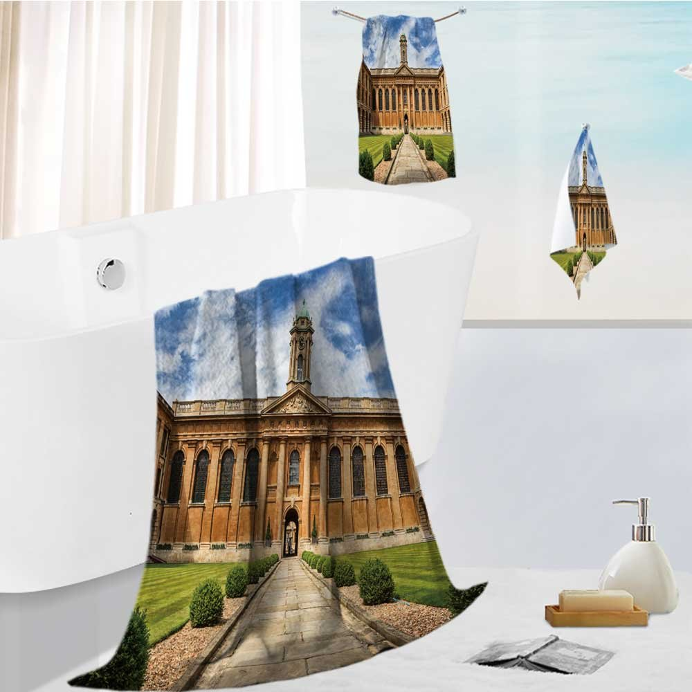 Jiahonghome Cotton Large Hand Towel Set oxford university the queen s college Multipurpose Bathroom Towels for Hand