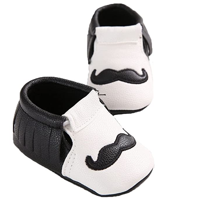 6-12 Months, Black Buckle Lidiano Infant Baby PU Leather Soft Sole Moccasins Flat Loafers Sneakers 0-18 Months