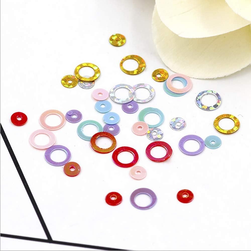 Fluffy Slime Spielzeug f/ür Kinder Charms-4# GreceMonday DIY-Kit Zubeh/ör-lustiges Geschenk Multicolor Runde Pailletten Filler F/ür L/ösch-