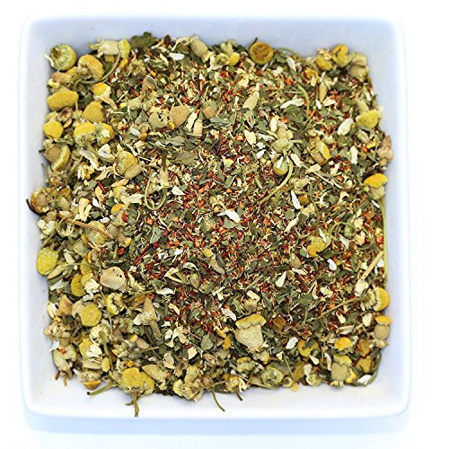 Tealyra - Lovely Night - Chamomile Rooibos Mint - Calming & Relaxing - Herbal Loose Leaf Tea - Antioxidants Rich - All Natural Ingredients - Caffeine-Free