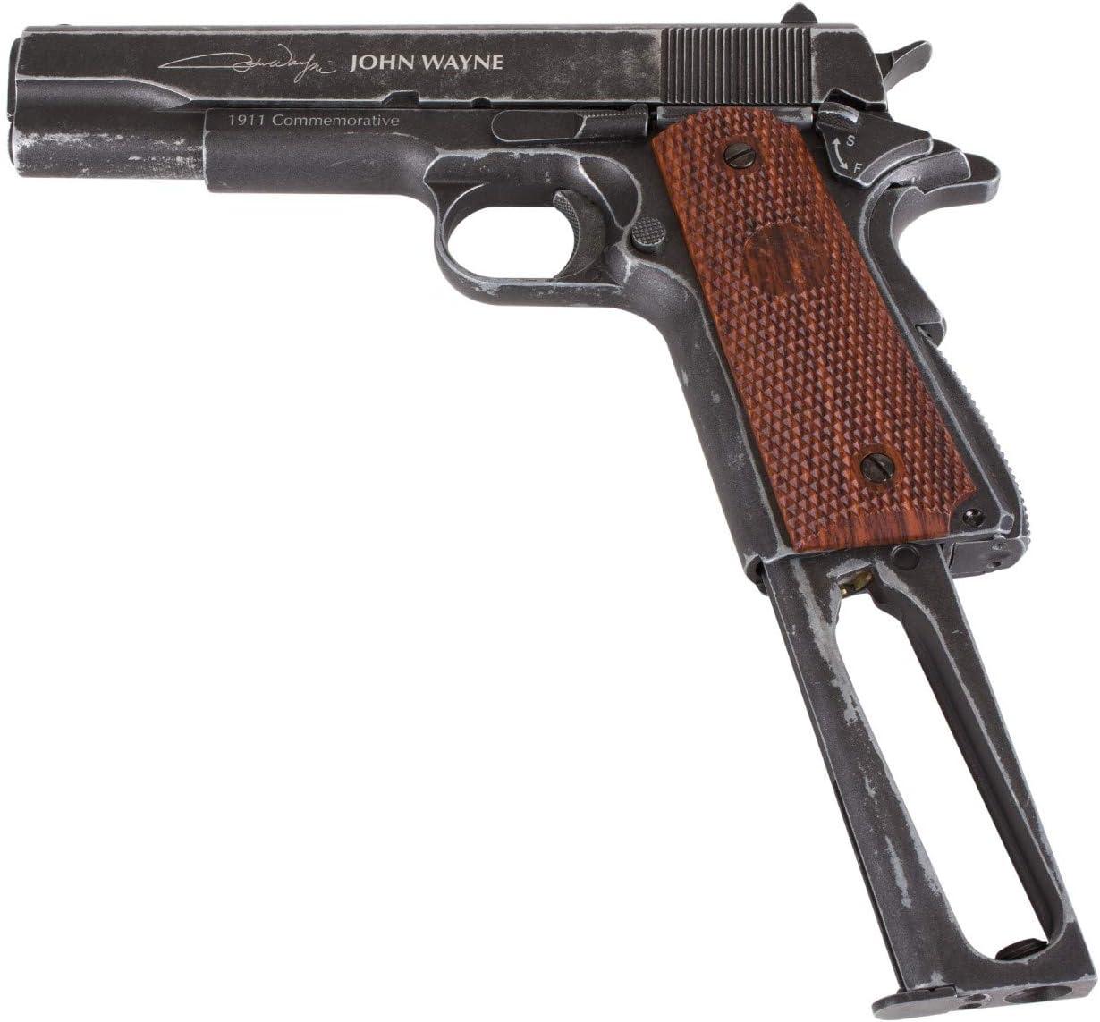 John Wayne 1911 Metal CO2 BB Pistol, Brown Grips air Pistol : Sports & Outdoors
