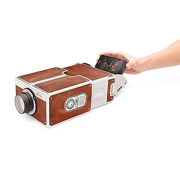Docooler Mini Smartphone Projektor Kino Tragbare Heimgebrauch DIY Karton Projektor Familie Unterhaltung Projektive Ger/ät