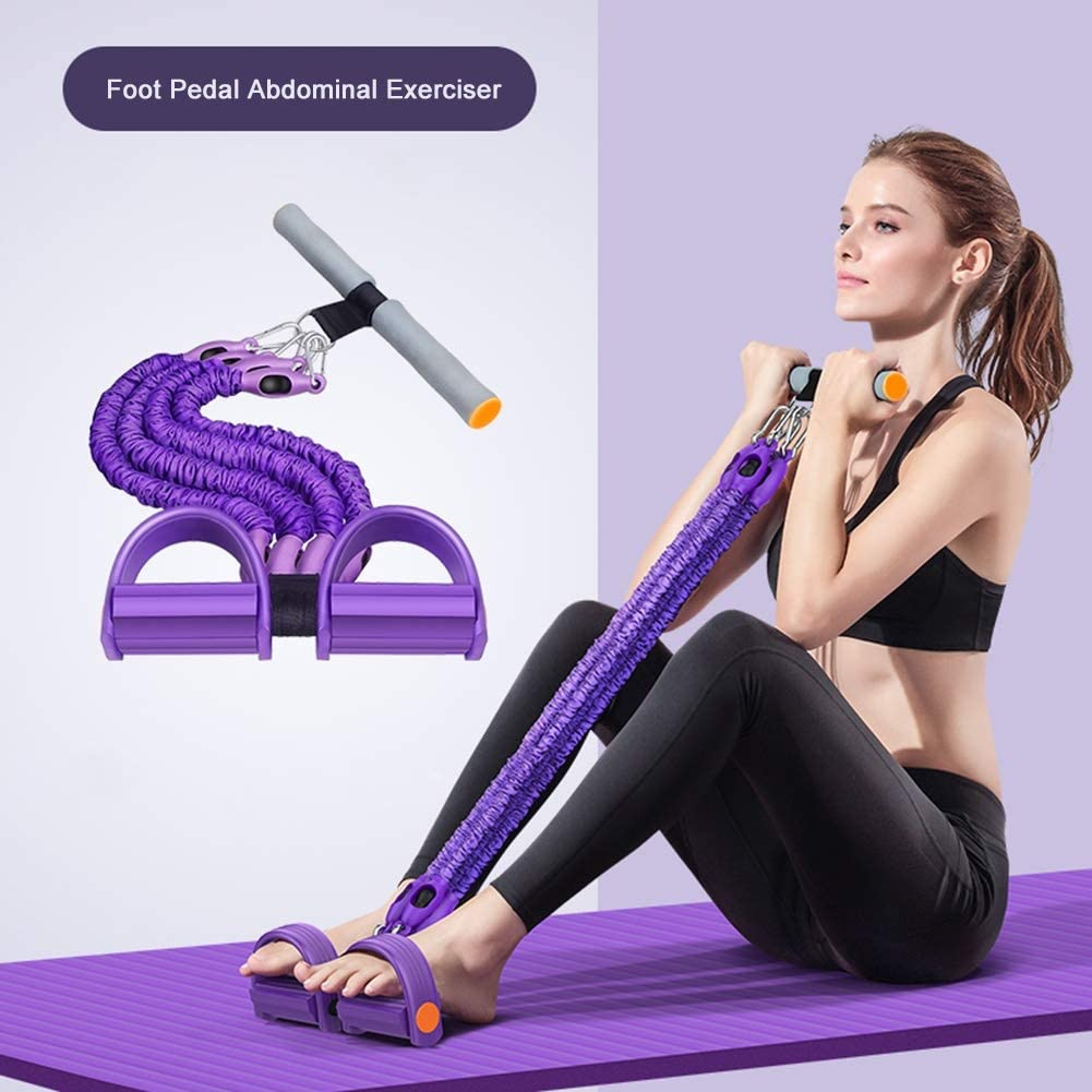 CYYY Pedal Pull Rope Multifunction Tension Rope Fitness Pedal Exerciser Rope Pull Bands Yoga Fitness Foot Pedal Pull Ropes Sit-up Bodybuilding Resistance Exercise Bands for Home Gym
