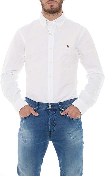 Ralph Lauren Camisa Polo BD PPC Blanca Hombre XL BSR White: Amazon.es: Ropa y accesorios