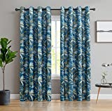 ITEXTILOGIE Blackout Grommet Print Curtains for Bedroom|Room Darkening Thermal Insulated Curtain Noise Reducing Panels Window Draperies for living room(2 Panels,53x63 inch Each Panel,Bamboo)