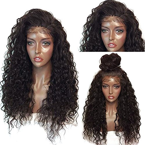 "Price comparison product image ShakeLady 26"" Long Curly Wig Fluffy Lace Front Wig Synthetic Wavy Hair Wig Cap for Black Women Costume Cosplay (Dark Brown)"