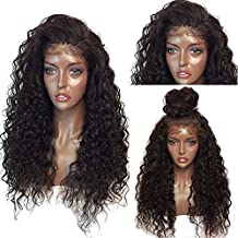 ShakeLady Long Curly Wig Fluffy Lace Front Wig Synthetic Wavy Hair Wig Cap for Black Women Costume Cosplay (Dark Brown)