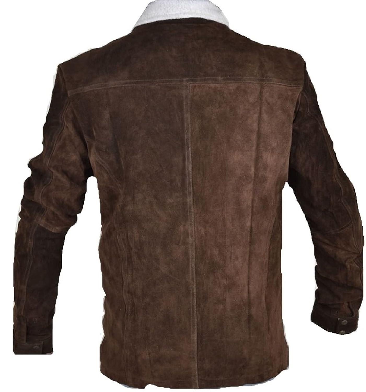 Celebrita X Men's Rick Grimes Western Suede Leather Jacket - For Men's