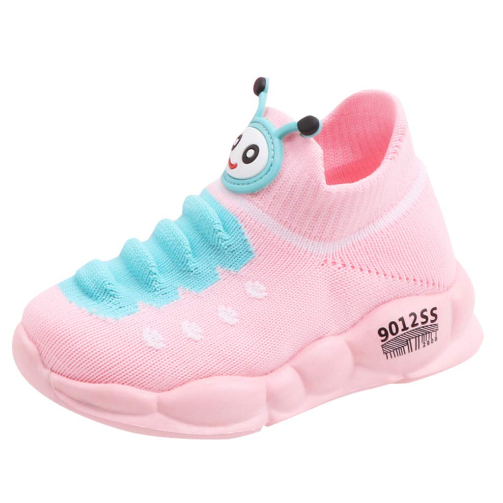 Kids Boys Girls Breathable LED Light Up Shoes Flashing Sneakers Candy Color Letter Sport Run Sneakers Chaofanjiancai