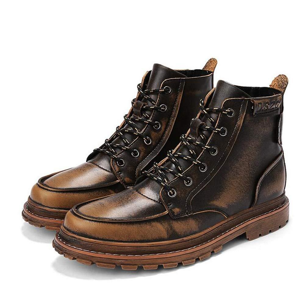 Hy Männer Martins Stiefel, Frühjahr Herbst Retro-Stiefelies, Freizeitschuhe, Herren-Stiefel Militärstiefel Desert Combat Stiefel (Farbe   Bronze, Größe   41)