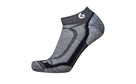 Point6 Running Sprinter Extra Light Mini Crew Calcetines, Unisex, gris